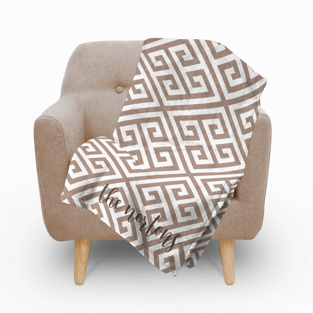 Paros Tan Fleece Blanket - milogiftshop