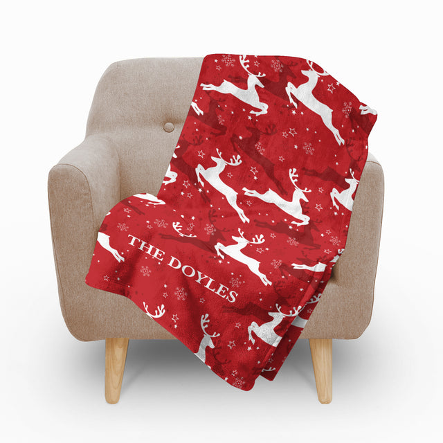 Reindeer Fleece Blanket - milogiftshop