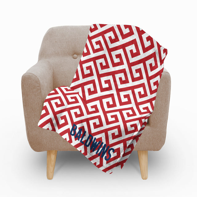 Santorini Red Fleece Blanket - milogiftshop