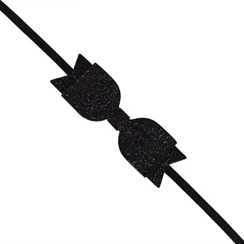 Black Slim Glitter Headband