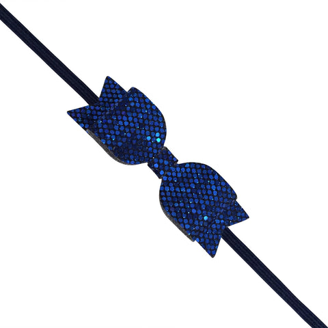 Blue Slim Glitter Headband