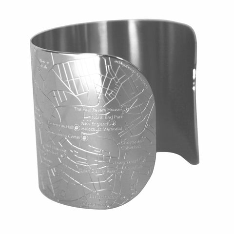 Boston Shiny Embossed City Cuff