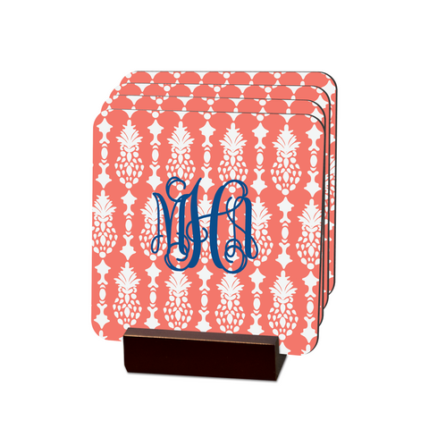 Mira Peach Coasters - Multiple Personalization Options Available