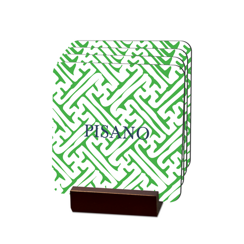 Naxos Green Coasters - Multiple Personalization Options Available