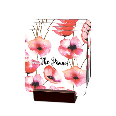 Poppies Coasters