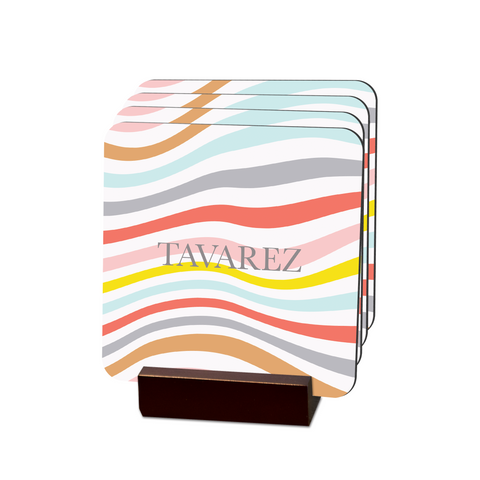 Summer Swirl Coasters - Multiple Personalization Options Available