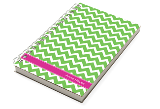 Chevron Green Chunky Notebook