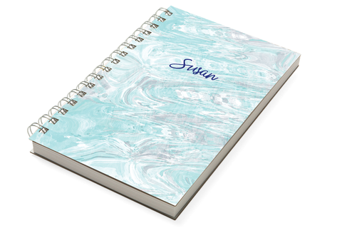 Marble Teal Chunky Notebook