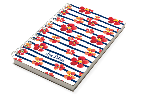 Nautical Blooms Chunky Notebook