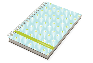 Peacock Aqua Chunky Notebook