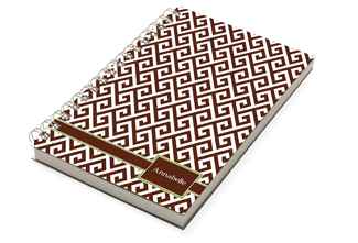 Santorini Brown Chunky Notebook - milogiftshop