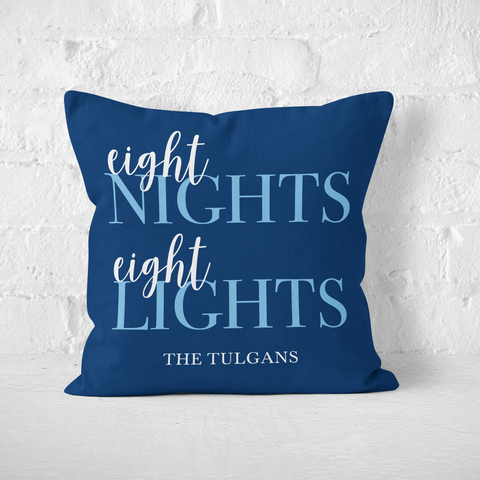 Eight Nights Eight Lights Indoor Pillow