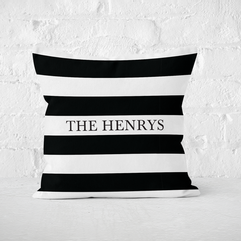 Black Stripes Indoor Pillow