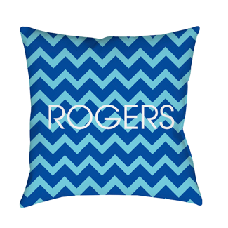 Chevron Blue Indoor Pillow
