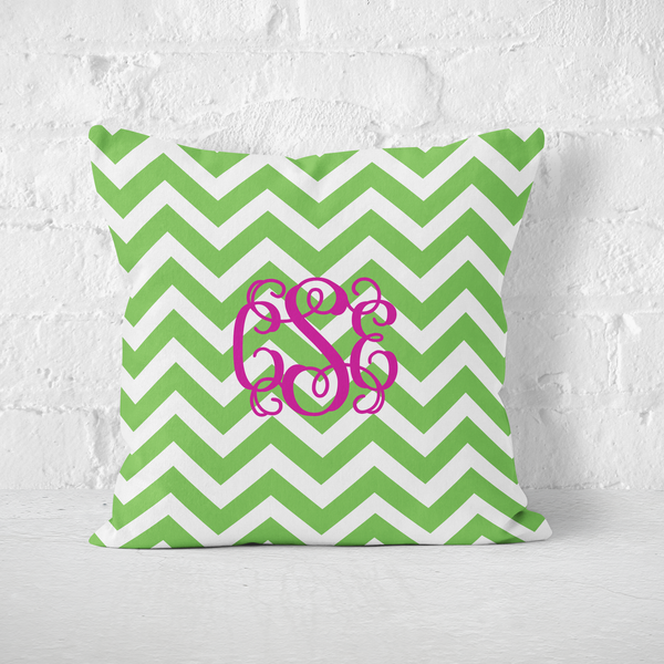 Chevron Green Indoor Pillow