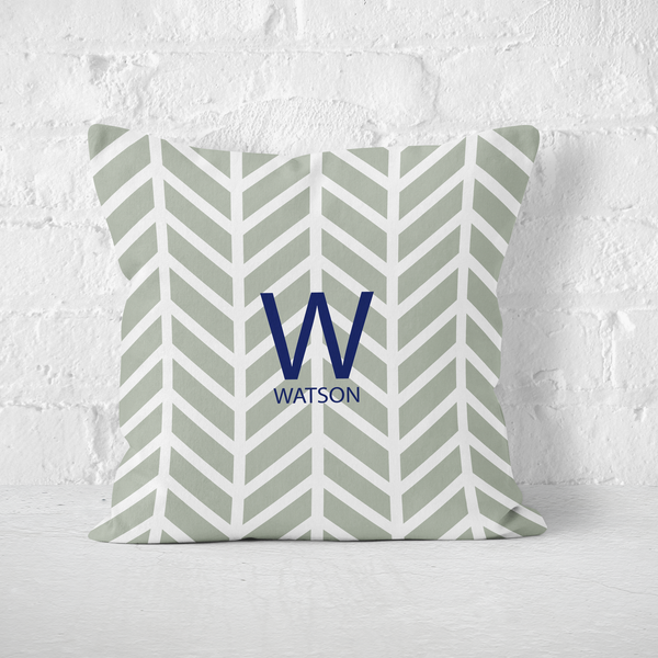Modern Chevron Grey Indoor Pillow