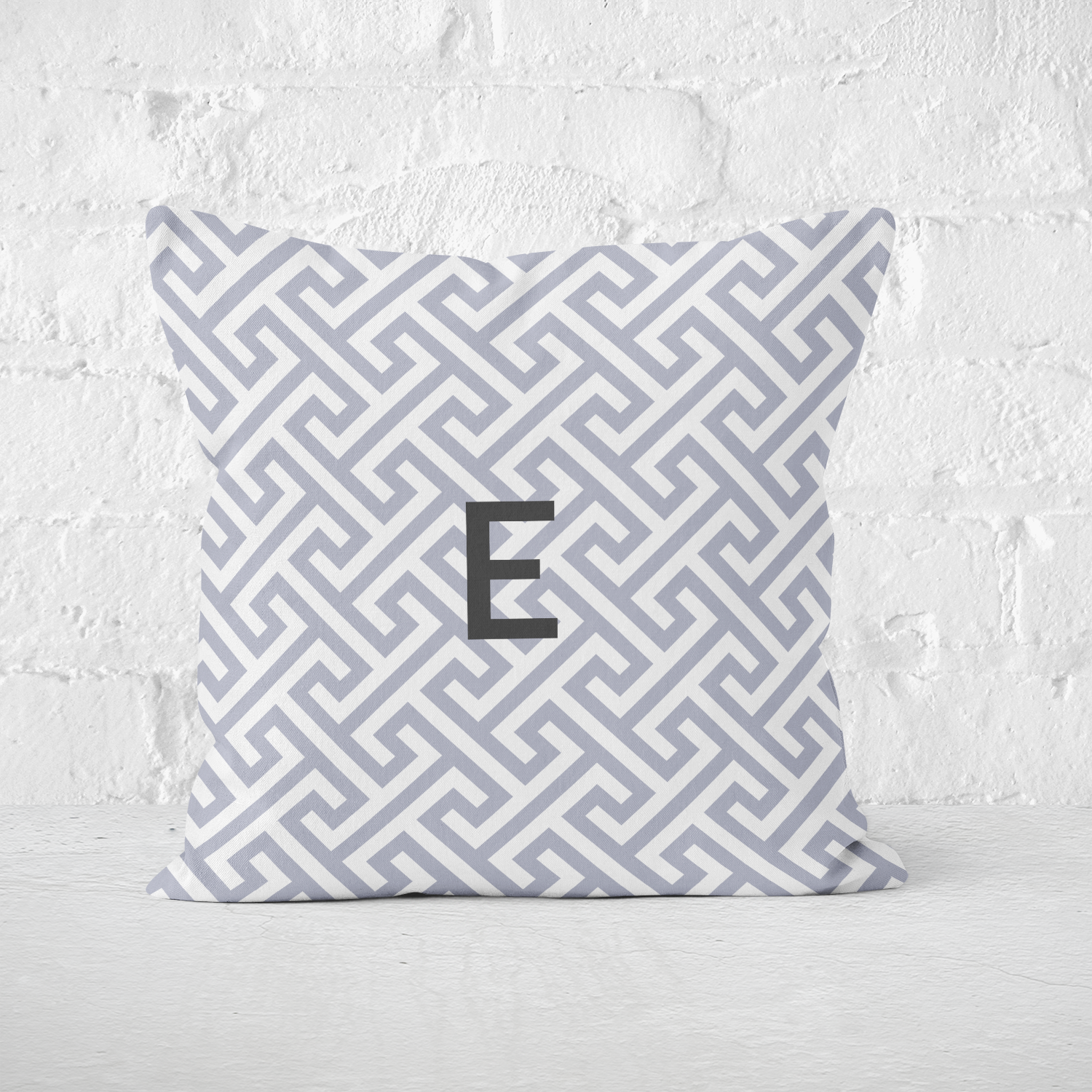 Mykonos Grey Indoor Pillow - milogiftshop