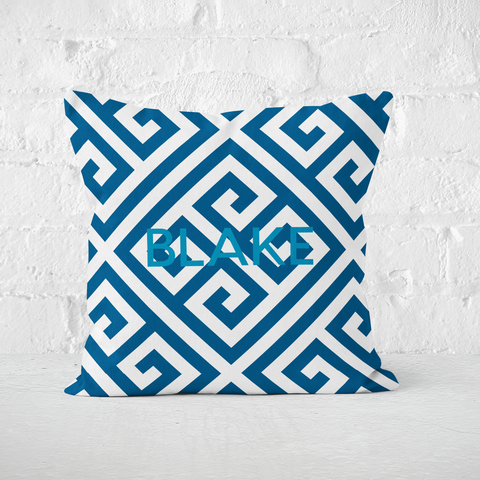 Paros Blue Indoor Pillow