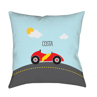 Race Car Indoor Pillow