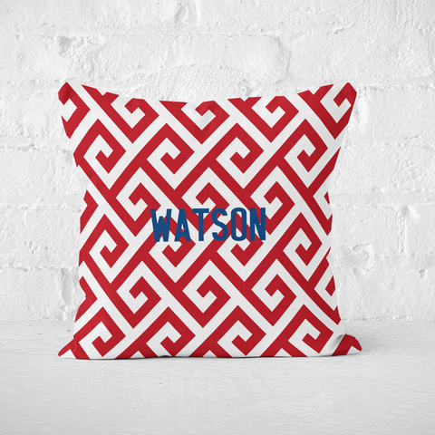 Santorini Red Indoor Pillow