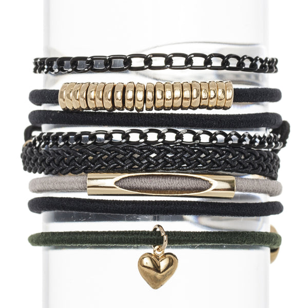 Urban Classic Hair Band Bracelet Stack