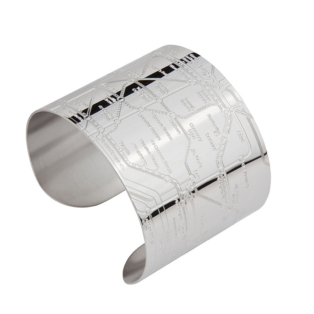 London Shiny Embossed Metro Cuff - milogiftshop