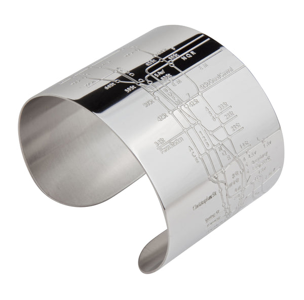 NYC Shiny Embossed Metro Cuff