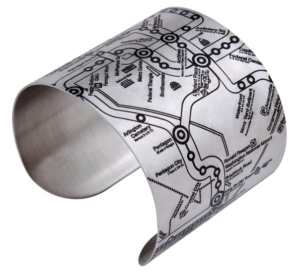 Washington DC Matte Black Metro Cuff