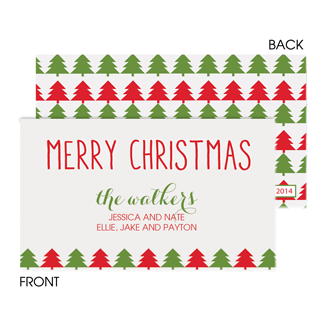 Christmas Trees Enclosure Card