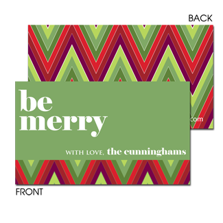 Berry Merry Zig Zags Enclosure Card - milogiftshop