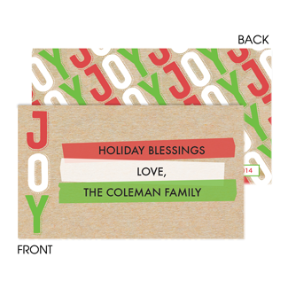 Joy Colorful Enclosure Card