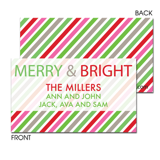 Merry Bright Stripes Enclosure Card