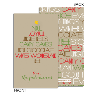 Modern Holiday Tree Enclosure Card - milogiftshop