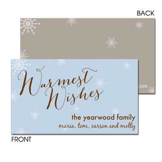 Warmest Wishes Enclosure Card