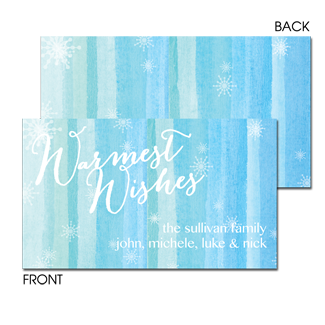 Water Color Wishes Enclosure Card