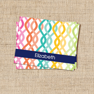 Colorful Trellis Stationery