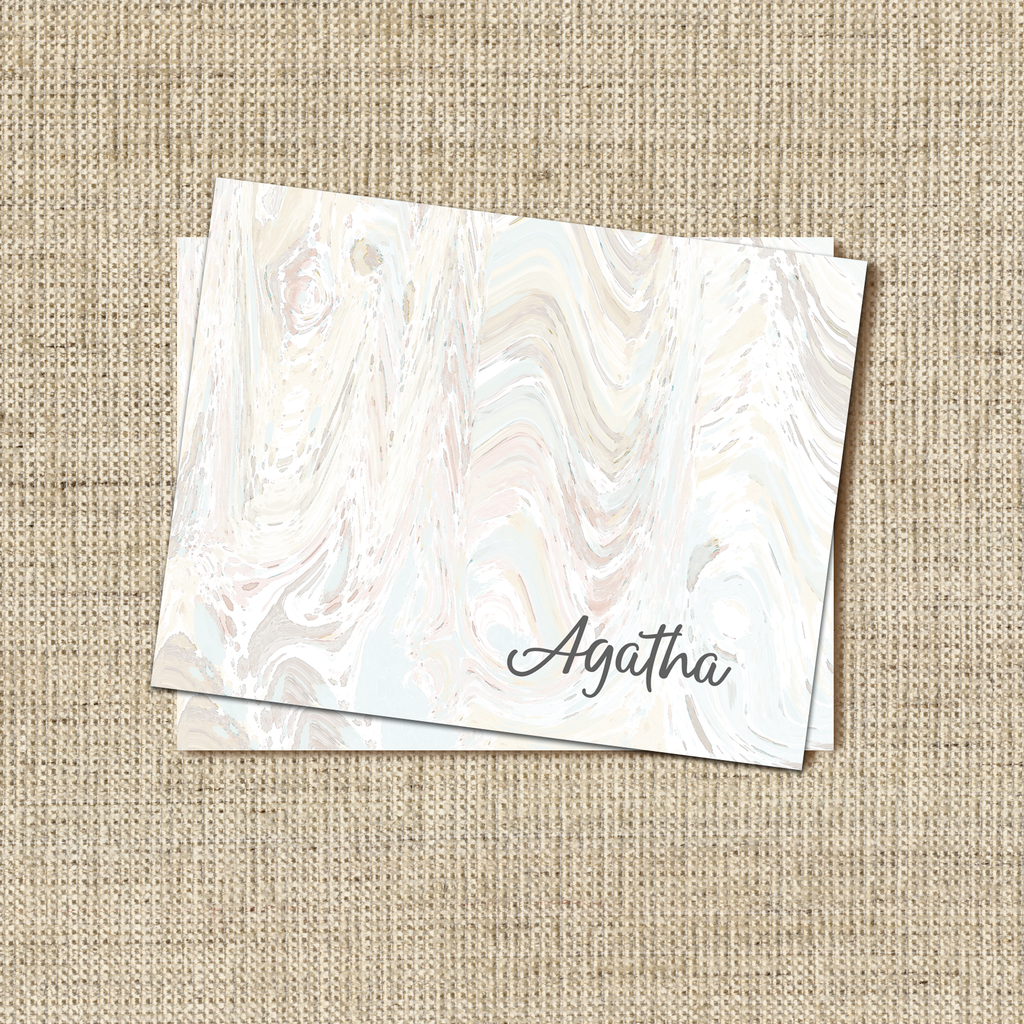 Marble Pale Stationery - milogiftshop