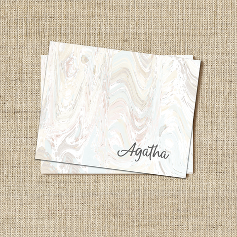 Marble Pale Stationery