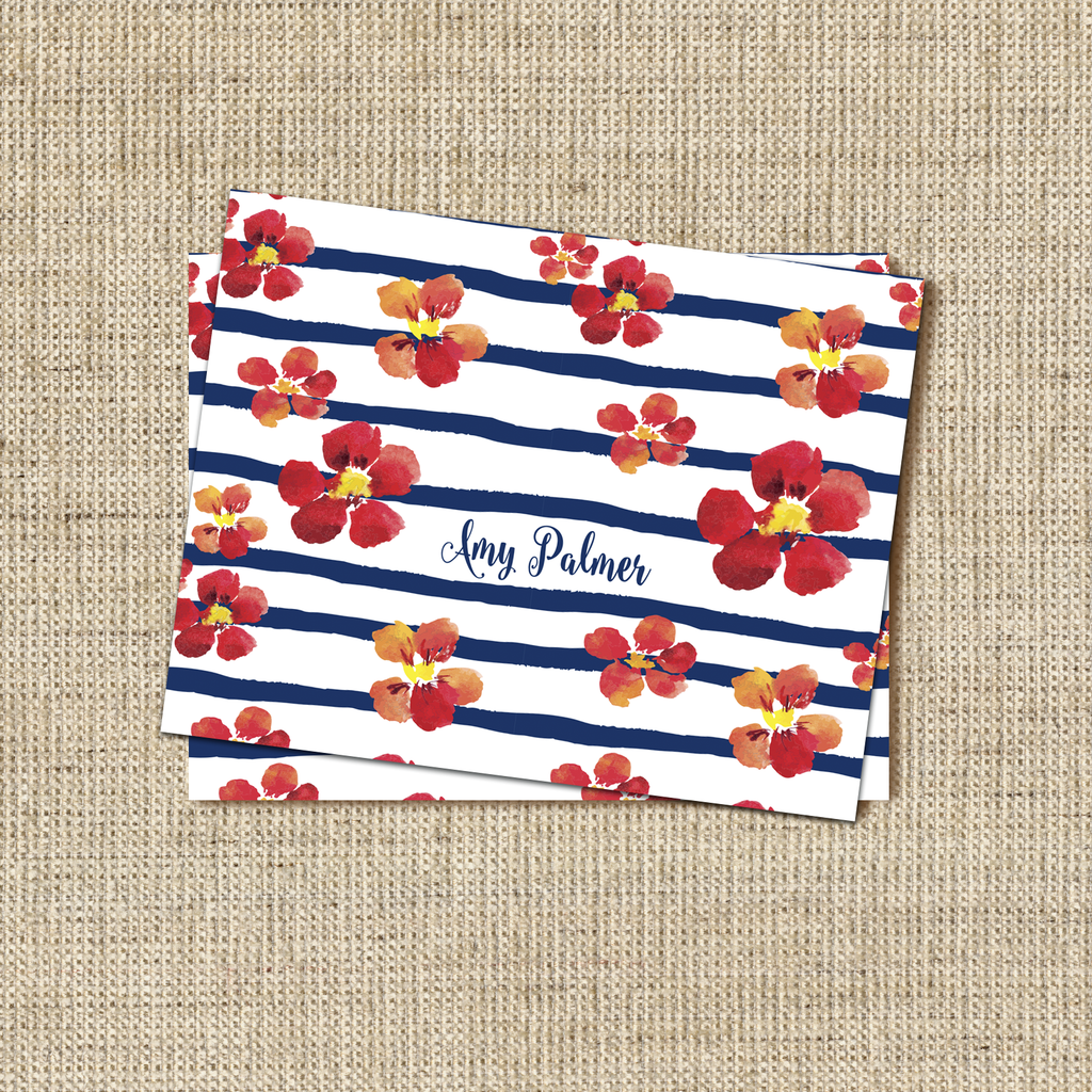 Nautical Blooms Stationery - milogiftshop