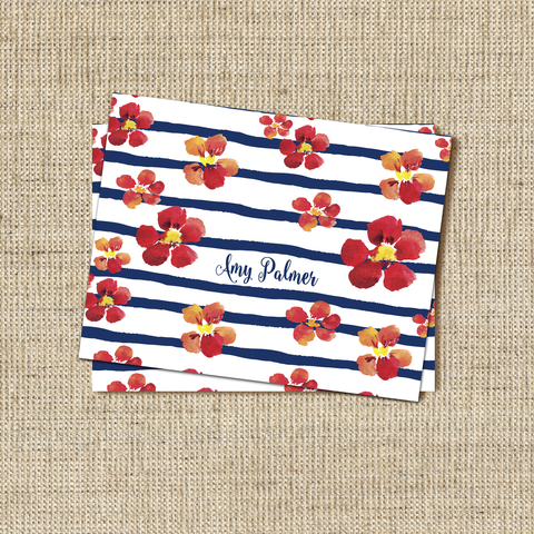 Nautical Blooms Stationery