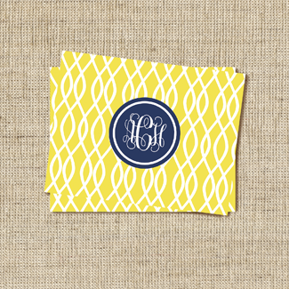 Trellis Butter Stationery