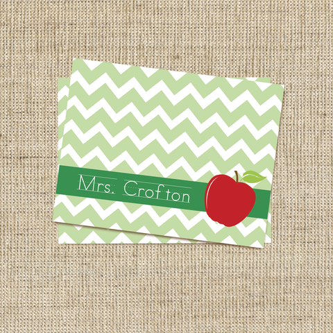 Chevron Apple Stationery