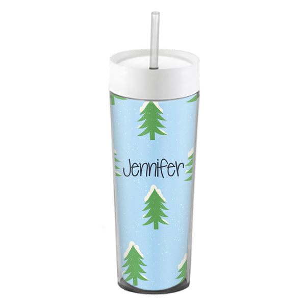 Snowy Forest Skinny Tumbler