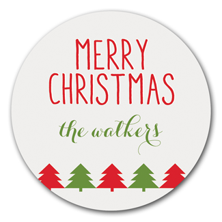 Christmas Trees Stickers - milogiftshop
