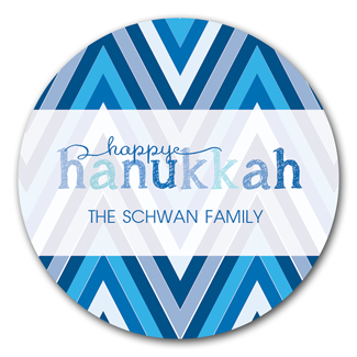 Happy Hanukkah Stickers - milogiftshop