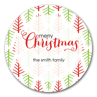 Holiday Trees Stickers - milogiftshop