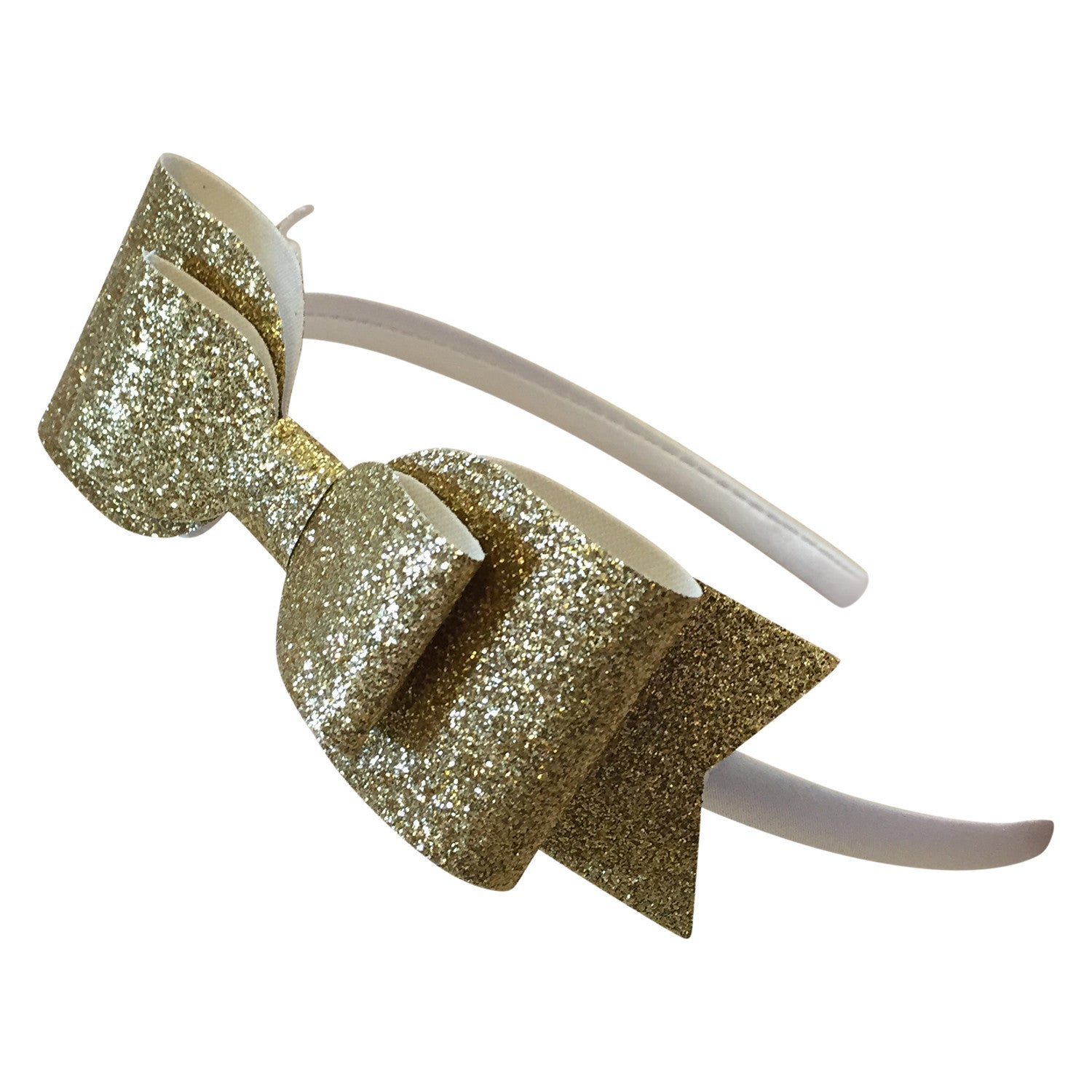 Gold Glitter Hard Headband - milogiftshop
