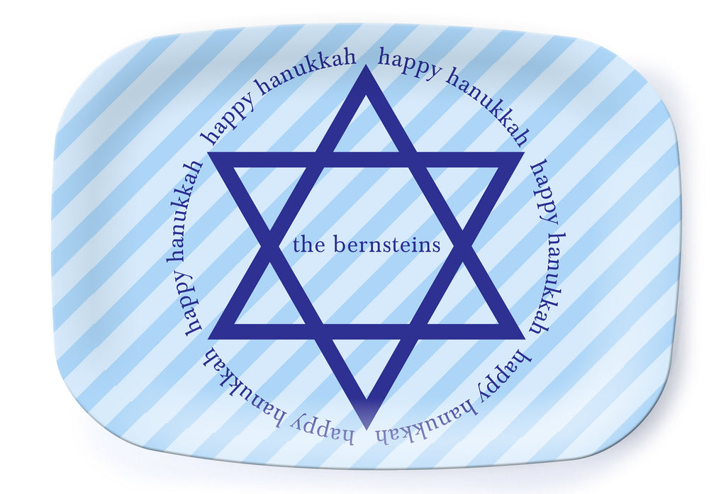Happy Hanukkah Platter - milogiftshop