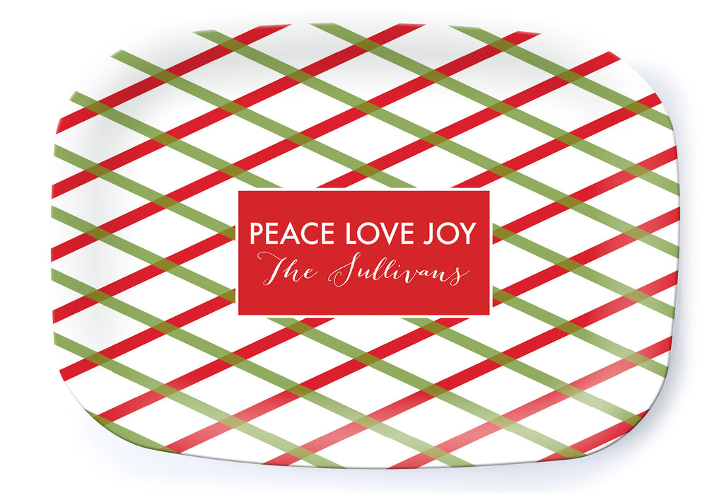 Holiday Trellis Platter - milogiftshop