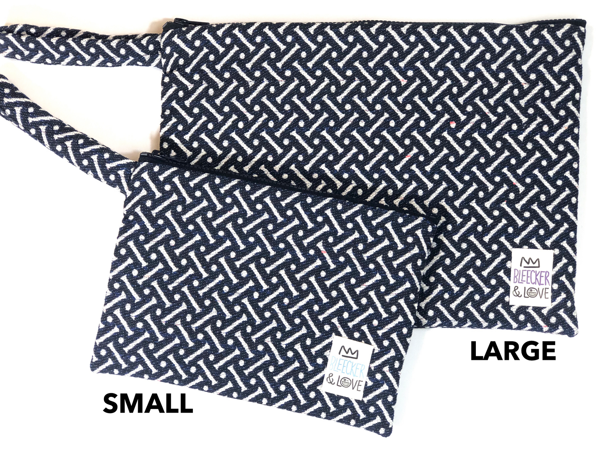 Blue Bones Flat Pouch- 2 Sizes Available - milogiftshop